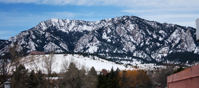 Few gyms in Boulder have such a great view of the Flatirons